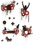 Club Dj,Music,Guitar,Hip Hop,Silhouette,Dirty,Grunge,Rap,Fan,Wing,Armed Forces,Graffiti,Pop Musician,Retro Revival,Design,Circle,Flower,Bomb,Vector,CD,Dancing,Butterfly - Insect,Black Color,Spray,graphic elements,Drop,Ilustration,Nightclub,Splattered,Vector Florals,Vector Ornaments,Vector Backgrounds,Part Of,Clip Art,Illustrations And Vector Art