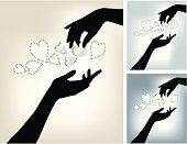 Human Hand,Heart Shape,Assistance,A Helping Hand,Charity and Relief Work,Silhouette,Sharing,Beauty,Beauty In Nature,Friendship,Unity,Love,Service,Illusion,Ilustration,People,Back Lit,Togetherness,Loving,Abstract,Wedding,Ideas,Action,Agreement,Concepts,Serene People,Inspiration,Human Arm,No People,Beautiful,Swirl,Creativity,Symbol,To Be In Love,Tranquil Scene,Valentine's Day - Holiday,Flirting,I Love You,Spirituality,Married,Honeymoon,Backdrop,Ethereal,Copy Space,Harmony,Emotion,Backgrounds,Romance,Tranquillity,Dating,Candid,Vertical,Design Element,Unrecognizable Person,Love Card,Clip Art,Engagement