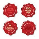 Computer Graphics,Security,Symbol,Sign,Label,Red,Adhesive Bandage,Computer Graphic,Certificate,Ornate,Seal - Stamp,Illustration,Insurance,Royalty,No People,Vector,Wax Stamp,2015,Clip Art,Design Element,Vintage Labels,Sticker Label