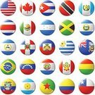 Symbol,Sign,Magnet,Shiny,Flag,North America,South America,National Flag,Mexico,USA,Guatemala,Nicaragua,Argentina,Bolivia,Brazil,Chile,Colombia,Ecuador,Paraguay,Venezuela,Canada,Circle,British Columbia,Cuba,Dominican Republic,Computer Icon,Badge,Illustration,No People,Vector,Government,Travel,Insignia,2015,Continent,Round Button