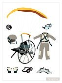 Activity,Clothing,Equipment,Shoe,Personal Accessory,Mode of Transport,Sport,Outdoors,Sunglasses,Parachuting,Skydiving,Paragliding,Clock,Wind,Illustration,Hobbies,Vector,Jumpsuit,Paratrooper,Extreme Sports,Paramotor,Single Object,2015,81352