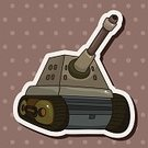 armored,Land Vehicle,Symbol,Transportation,Armed Forces,Machinery,Illustration,Army,War,Backgrounds,Gun,Weapon,Vector