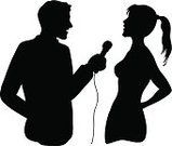 Interview,Journalist,Silhouette,TV Reporter,Microphone,Women,Talking,Ponytail,The Media,Celebrity,Actor,Discussion,Men,Couple,People,Talk,Female,Gossip,Male,Gossip Columnist,Cable