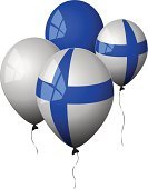 Finland,Finnish Flag,Flag,Balloon,Nordic Countries,White,Helium Balloon,Illustrations And Vector Art,Holidays And Celebrations,Isolated Objects,Party - Social Event,Celebration,Blue,Shiny,Reflection,Window