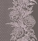 Lace - Textile,Floral Pattern,Flower,Romance,Trancparency,Gray,Vector,Peony,Vertical,Seamless,Pattern,Pink Color