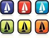 Sailboat,Yacht,Yacht,Interface Icons,Symbol,Nautical Vessel,Black Color,Shiny,Blue,Design,Green Color,sailing vessel,Design Element,Illustrations And Vector Art,Square Shape,Concepts And Ideas,Isolated Objects,Vector,Yellow,Purple,Red,Orange Color