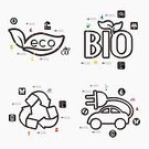 Vector,Planet - Space,Ozone Layer,biofuels,Shape,Creativity,Abstract,Sign,Symbol,Residential District,Changing Form,Nature,Environment,Illustration,Tree,Recycling,Climate,Evacuation,Pollution,Infographic