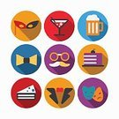 Event,Symbol,Sign,Alcohol,Wine,Cocktail,Party - Social Event,Birthday,Christmas,Computer Icon,Illustration,Celebration,Flat,No People,Vector,Collection,Holiday - Event,2015,Icon Set