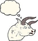 Drawing - Activity,Cultures,Illustration,Doodle,Clip Art,Farm,Thought Bubble,Cheerful,Bull - Animal