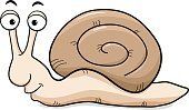 Illustration,Cute,Isolated,Animal,Vector,Brown,Snail,Animal Shell,Smiling,White Background,Cochlea,Cartoon,Humor,Slug,Small,Nature,Fun,Happiness,Crawling