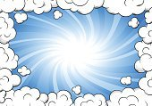 Stratosphere,Space,Cloudscape,Cloud - Sky,Weather,Day,Air,Computer Graphic,Exploding,Sunbeam,Blank,Placard,Light - Natural Phenomenon,Vector,Banner,Frame,Shiny,Glowing,Illuminated,Sky,Backgrounds,Illustration,Bright,Abstract,Blue,Magic