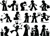 Men,Computer,Repairing,Cartoon,Silhouette,IT Support,Juggling,Toolbox,Technology,Confusion,Problems,Computer Bug,Vector,Installing,Order,Instructions,E-Mail,Internet,Computer Network,Communication,Cable,Computer Cable,Solution,Global Communications,Set,Restoring,Connection,Design Element,Isolated On White