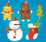 Christmas,Snowman,Sock,Christmas Tree,Cartoon,Christmas Stocking,Snow,Label,Characters,Stockings,Symbol,Tree,Holiday,Gift,Season,Joy,Christmas,Vector Cartoons,Holidays And Celebrations,Holiday Symbols,Winter,Celebration,Cheerful,Decoration,Illustrations And Vector Art