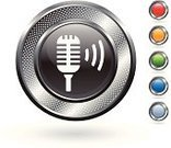 Microphone,Sound,Symbol,Computer Icon,Audio Equipment,Recording Studio,Curve,Circle,Orange Color,Grid,Wave Pattern,Metallic,Digitally Generated Image,Electronics Industry,White Background,Silver Colored,Blank,Focus on Shadow,Silver - Metal,Shadow,Green Color,Electrical Equipment,Metal,Volume,Empty,Red,Hole,template,Elegance,Blue