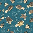 Wallpaper,Nature,Underwater,Sailing,Animal Scale,Blue,Circle,Pattern,Climate,Sea,Decoration,Curve,Backgrounds,Illustration,Doodle,Vector,The Swirl,Small Fish,2015,Undersea