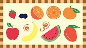 Mango,Tangerine,Crop,Fruit,Watermelon,Harvesting,Citrus Fruit,Orange - Fruit,Orange Color,Strawberry,Tropical Climate,Blueberry,Seed,Berry,Abundance,Vitamin Pill,Cute,Juicy,Variation,Healthy Eating,Apple - Fruit,Peel,Berry Fruit,Multi Colored,Banana,Ripe,Leaf,Vector Icons,Food And Drink,Sweet Food,Illustrations And Vector Art,Gourmet,Fruits And Vegetables