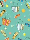 Sandal,Shoe,Backgrounds,Seamless,Summer,Vacations,Striped,Bag,Design,Humor,Blue,Ilustration,Symbol,Design Element,Illustrations And Vector Art,Vector Backgrounds,Vector Cartoons,Style,Eyeglasses,Vector,Abstract,Turquoise,stylization