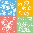 Snow,Christmas Decoration,Summer,New Year's Eve,New Year's Day,Snowflake,Sun,Autumn,Painted Image,Human Hand,Forecasting,Ilustration,Vector,Meteorology,Weather,Christmas,Year,Drawing - Art Product,Springtime,Winter,New,Mischief