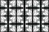 Shape,Black Color,White Color,Flower,Leaf,Backgrounds,Illustration,No People,Vector,2015,Seamless Pattern