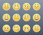 Eye,Tongue,Emotion,Anger,Depression - Sadness,Humor,Surprise,Happiness,Joy,Symbol,Gear,Human Body Part,Human Face,Human Eye,Cheerful,Design,Label,Smiling,Grimacing,Internet,Yellow,Circle,Orthographic Symbol,Cute,Winking,Caricature,Illustration,Cartoon,Emoticon,Vector,Characters,Collection,Facial Expression,2015,Icon Set,Avatar