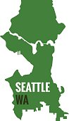 Washington State,Seattle,Rubber Stamp,Illustration,Vector,Travel,2015