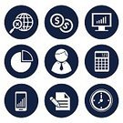 Business,Finance,Paper Currency,Document,Design,Clock,Computer Icon,Coin Bank,Illustration,No People,Vector,2015,Icon Set