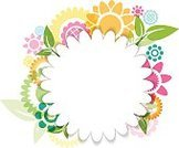 Bright,Freshness,Nature,Plant,Colors,Shape,Green Color,White Color,Bright,Multi Colored,Circle,Butterfly - Insect,Flower,Plant Stem,Branch,Leaf,Daisy,Springtime,Summer,Backgrounds,Fun,Ornate,Abstract,Blossom,Illustration,Template,Beauty In Nature,Copy Space,Floral Pattern,No People,Vector,Single Flower,Swirl,Vibrant Color,Brightly Lit,White Background,2015,Design Element,Flourish,268399