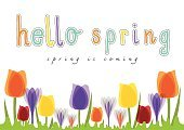 Computer Graphics,Romance,Nature,Europe,Plant,Blue,Purple,Red,Yellow,Multi Colored,Translucent,Season,Summer,Tulip,Day,Greeting,Computer Graphic,Cute,Illustration,Hello,No People,Vector,Vibrant Color,2015,Spring Is Coming