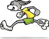 Rabbit - Animal,Running,Cartoon,Jogging,Speed,Track Event,Sports Race,Marathon,Easter,Baby Rabbit,Relay Race,Urgency,Sprinting,Vector,Action,Healthy Lifestyle,Distance Running,Individual Sports,Vector Cartoons,Mammals,Animals And Pets,Ilustration,Illustrations And Vector Art,Sports And Fitness