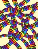 Wave,Vertical,Piano,Pattern,Wave,Rainbow,Backgrounds,Music Style,Music,Color Image,Noise,Illustration,Wave Pattern,Sound,Piano Key,No People,Crisscross,Electric Piano,Player Piano,Sine Wave,Squiggle,Single Line,Gamelan,2015
