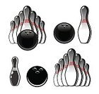 Equipment,Competition,Sport,Bowl,Ball,Ten Pin Bowling,Black Color,Sphere,Computer Icon,Playing,Cut Out,Illustration,Hobbies,Painted Image,Bowling Ball,Leisure Activity,Vector,Bowling Pin,Single Object,tenpins,2015,81352,Icon Set