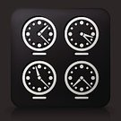 Simplicity,Symbol,Clock,Modern,Cultures,Business Travel,Computer Icon,Time Zone,Illustration,Vector,Travel,Sparse,Black Background,Black Button,2015,103626