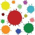 Image,Paint,Colors,Blue,Green Color,Orange Color,Pink Color,Purple,Red,Yellow,Dark,Circle,Pattern,Dirty,Cut Out,Color Image,Illustration,Vector,Blob,2015,Grunge