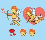Love,Romance,Smiling,Wedding,Pink Color,Red,Heart Shape,Arrow - Bow and Arrow,Child,Angel,Animal Wing,Cupid,Valentine's Day - Holiday,Illustration,Cartoon,Vector,2015,109316