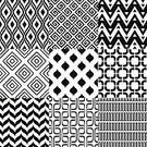 Black And White,Pattern,Backgrounds,Repetition,Illustration,Group Of Objects,No People,Vector,Geometric Shape,2015,Seamless Pattern