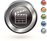 Film Slate,Symbol,Filming,Film Reel,Movie,Directing,Camera Film,Film Industry,Digitally Generated Image,Orange Color,Grid,Computer Icon,Film,Red,Wire Mesh,Entertainment,Elegance,Silver - Metal,Blank,Circle,White Background,Metallic,Hole,Blue,Empty,Curve,template,Shadow,Green Color,Metal,Silver Colored,Focus on Shadow