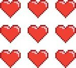 Symbol,Red,Backgrounds,Valentine's Day - Holiday,Illustration,Pixelated,No People,Vector,Collection,2015,pixel art