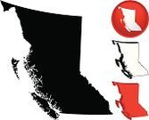 British Columbia,Map,Cartography,Canada,province,Vector,Outline,Interface Icons,Symbol,Silhouette,Illustrations And Vector Art,Vector Icons,Black Color,Ilustration,Territorial,Red
