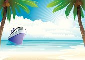 Cruise,Cruise Ship,Beach,Island,Nautical Vessel,Passenger Ship,Tropical Climate,Vacations,Sea,Vector,Palm Tree,Backgrounds,Landscape,Travel,Ferry,Summer,Idyllic,Tree,Water,Coconut Palm Tree,Coastline,Surf,Journey,Tourist Resort,Backdrop,Ilustration,Sun,Sky,Sand,Mediterranean Sea,Design,Travel Destinations,Tourist,Tranquil Scene,Bay Of Water,Tourism,Scenics,Transportation,Direction,Water's Edge,Exploration,Outdoors,Seascape,Leisure Activity,Nature,haven,Relaxation,Transportation,Beaches,Nature,Travel Locations,Nature Backgrounds
