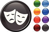 Theater Mask,Theatrical Performance,Comedy Mask,Humor,Tragedy Mask,Symbol,Computer Icon,Entertainment,Human Face,Emotion,Sparse,Ilustration,Smiling,Vector,Smiley Face,Blue,Computer Graphic,Black Color,Frowning,Digitally Generated Image,Orange Color,Nightlife,Design,Red,Shiny,Purple,Green Color,Modern,Empty