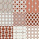 Pattern,Grid,Backgrounds,Repetition,Illustration,Group Of Objects,No People,Vector,Geometric Shape,Retro Styled,2015,Seamless Pattern