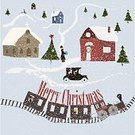 People,Event,Humor,Happiness,Symbol,Town,Gift,Train - Vehicle,Church,Christmas,Tree,Winter,Snowflake,Christmas Tree,Greeting Card,Christmas Card,Christmas Present,Illustration,Inviting,Christmas Decoration,Vector,Railroad Car,Invitation,2015,Holiday Card,Christmas Letter