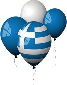 Greek Flag,Greece,Balloon,Flag,White,Blue,Party - Social Event,Shiny,Helium Balloon,Window,Isolated Objects,Holidays And Celebrations,Reflection,Celebration,Illustrations And Vector Art