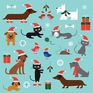 Gift,Hat,Ball,Animal,Bird,Christmas,Blue,Sphere,Wool,Dog,Domestic Cat,Mouse,Snowflake,Boredom,Santa Claus,Bulldog,Cardinal - Bird,Dachshund,Cute,Santa Hat,Mistletoe,Illustration,Jay,Animal Themes,Puppy,Kitten,Vector,Pets,Dog Bone,Scottish Terrier,Holiday - Event,2015,Clip Art
