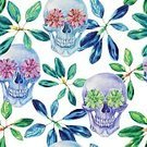 Floral,Computer Graphics,Romance,Bouquet,Chance,Nature,Botany,Human Skull,Design,Paintings,Drawing - Art Product,Plant,Painting,Drawing - Activity,Green Color,Multi Colored,Pattern,Textile,Tropical Climate,Succulent Plant,Flower,Lush Foliage,Leaf,Twig,Springtime,Summer,Decoration,Backgrounds,Beauty,Repetition,Computer Graphic,Flowerbed,Art And Craft,Art,Craft,Adulation,Abstract,Watercolor Painting,Blossom,Illustration,Organic,Watercolor Paints,Beauty In Nature,Floral Pattern,Textured,Vector,Backdrop,Ornamental Garden,Beautiful People,2015,Isolated,Design Element,Seamless Pattern,268399