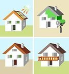 House,Energy,Solar Equipment,Sun,Roof,Chalet,Residential Structure,Green Color,Environment,Environmental Conservation,Paint,Construction Industry,Business,Balcony,Architecture,Wood - Material,Real Estate,Nature,Architecture And Buildings,Illustrations And Vector Art,Selling,Nature,Wall