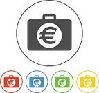 Study,Symbol,Sign,Shiny,Bag,Success,Achievement,Wealth,Business,Finance,Technology,Suitcase,Chart,Dollar Sign,Analyzing,Internet,Circle,Metal,Home Office,Push Button,Currency,Chrome,Diagram,Illustration,Making Money,Banking,Metallic,Charity and Relief Work,Vector,Millionnaire,Computer,2015
