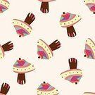 Food,Freshness,Nature,Pattern,Vegetable,Fungus,Autumn,Forest,Backgrounds,Cute,Illustration,Organic,Vegetarian Food,No People,Vector,2015,Seamless Pattern