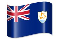 Waving,Shadow,Country - Geographic Area,Flag,Horizontal,Anguilla,Illustration,Isolated,White,Design,Clip Art,Symbol