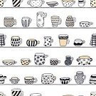 Innocence,Cup,Blue,Pink Color,Yellow,Spotted,Striped,Flower,Backgrounds,Cute,Primitivism,Illustration,Cartoon,Doodle,No People,Vector,Single Line,2015,kids style,kids stuff,for kids,Seamless Pattern